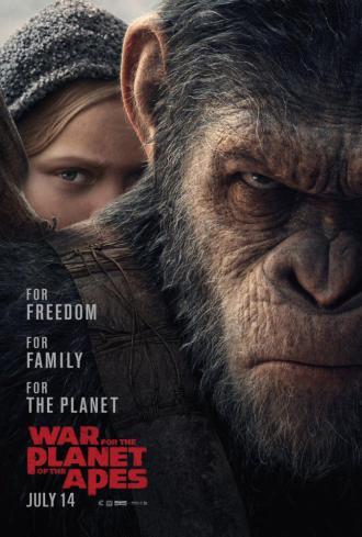 постер Війна за планету мавп